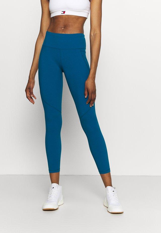 POWER WORKOUT 7/8 LEGGINGS - Leggings - teal blue