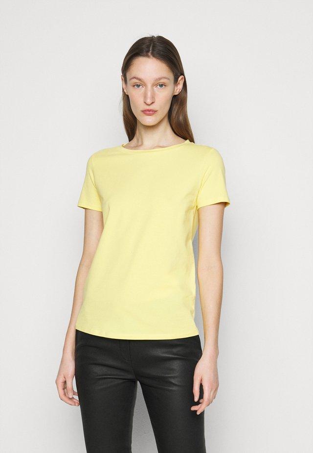 T-Shirt basic - zartgelb