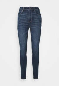American Eagle - SUPER HIGH RISE - Slim fit jeans - night time navy - 4