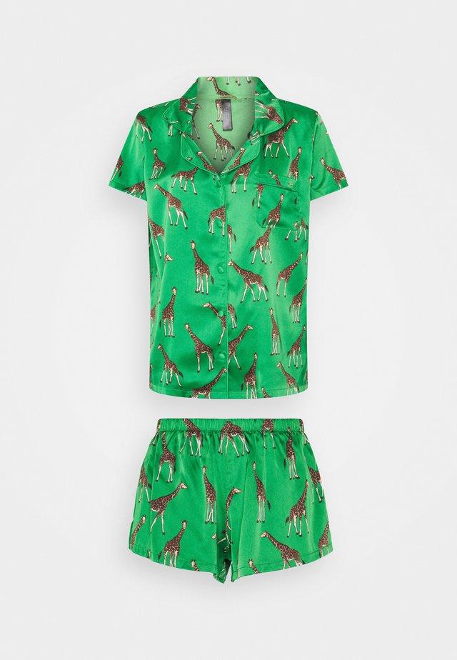 FERIA SHIRT AND SHORT - Pyjama - green