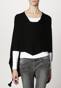 comma - PONCHO - Cape - black - 1