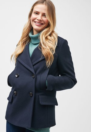 NAVY PEA COAT - Short coat - blue