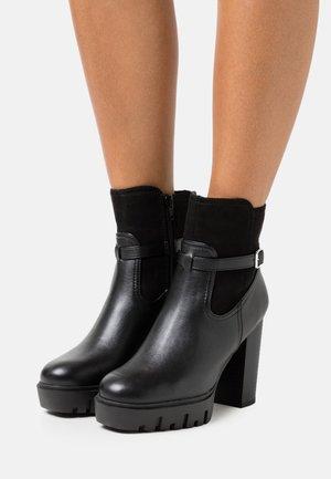 BONUS PLATFORM - Platform ankle boots - black