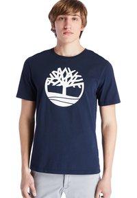 Timberland - Print T-shirt - dark sapphire - 0