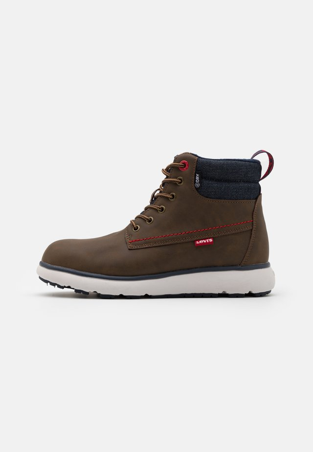 VERMONT - Lace-up ankle boots - brown/navy