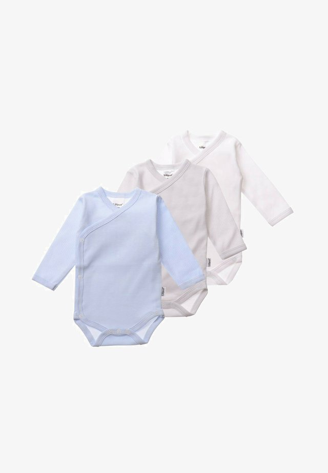 3ER-PACK - Body - weiß/ grau-gestreift/ blau-gestreift