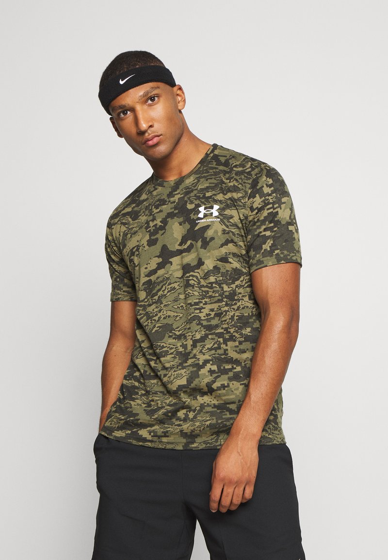 Under Armour - CAMO - Print T-shirt - black/khaki