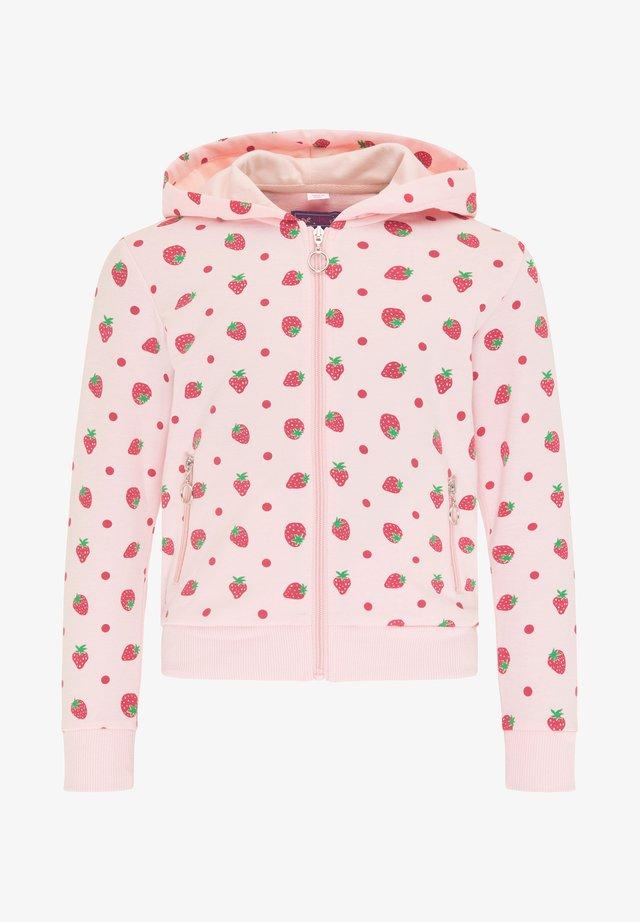 Zip-up hoodie - hellrosa