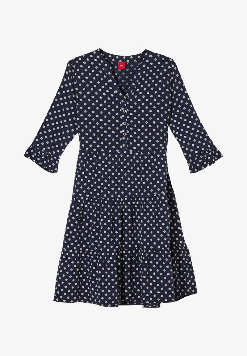 s.Oliver - Day dress - dark blue aop