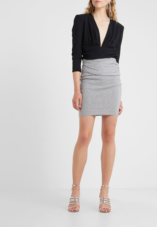 DUNBAR - Falda de tubo - mixed grey