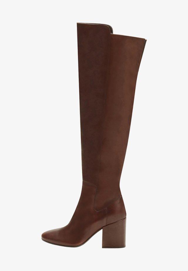 GWEN - Laarzen met hoge hak - brown