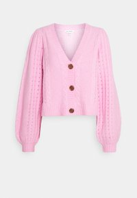 Miss Selfridge - PRETTY STITCH DETAIL SLEEVE CROP CARDIGAN - Cardigan - mid pink - 3