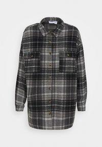 NMFLANNY LONG SHACKET - Camicia - black/grey