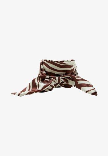 Šátek na hlavu - mottled brown