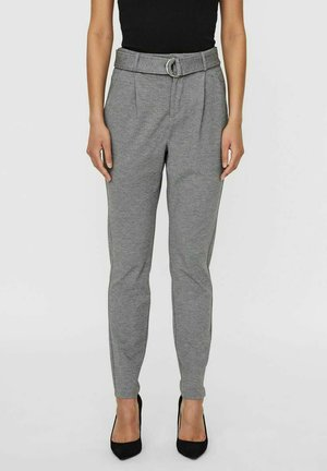 Trousers - medium grey melange