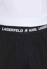 KARL LAGERFELD - LOGO TROUSER - Pyjama bottoms - black - 4