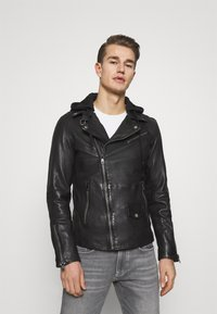 Freaky Nation - BE READY - Leather jacket - black - 0
