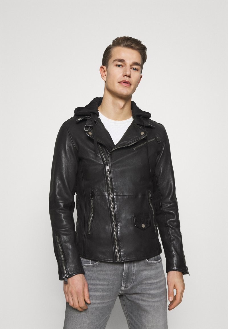 Freaky Nation - BE READY - Leather jacket - black