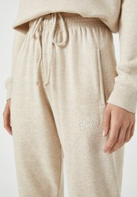 PULL&BEAR - Tracksuit bottoms - beige - 4