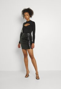 Gina Tricot - HOLLY - Top sdlouhým rukávem - black - 1