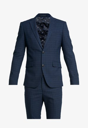 CHECKED SUIT - Kostuum - blue