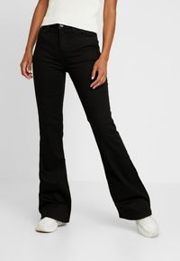 Lee - BREESE - Flared jeans - black rinse - 0