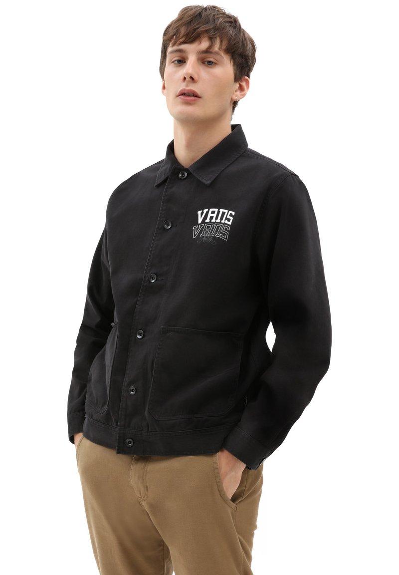 Vans - MN NEW VARSITY DRILL CHORE COAT - Denim jacket - black
