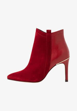ALEPAL - Kotníková obuv na vysokém podpatku - red