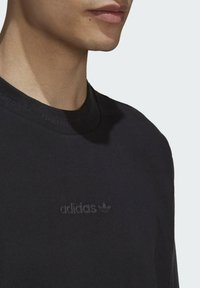 adidas Originals - RIB DETAIL - Basic T-shirt - black - 4