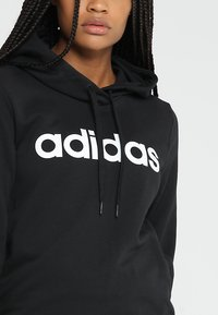adidas Performance - ESSENTIALS LINEAR SPORT HODDIE - Hoodie - black - 6