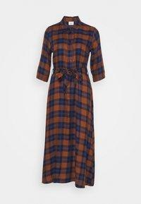 JDY - JDYSTAY MIDCALF DRESS - Košilové šaty - brown/blue - 0