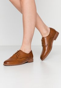 Anna Field Wide Fit - LEATHER - Derbies - cognac - 0