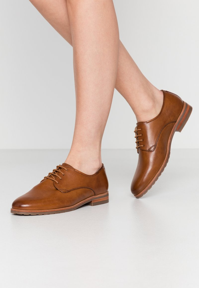 Anna Field Wide Fit - LEATHER - Derbies - cognac