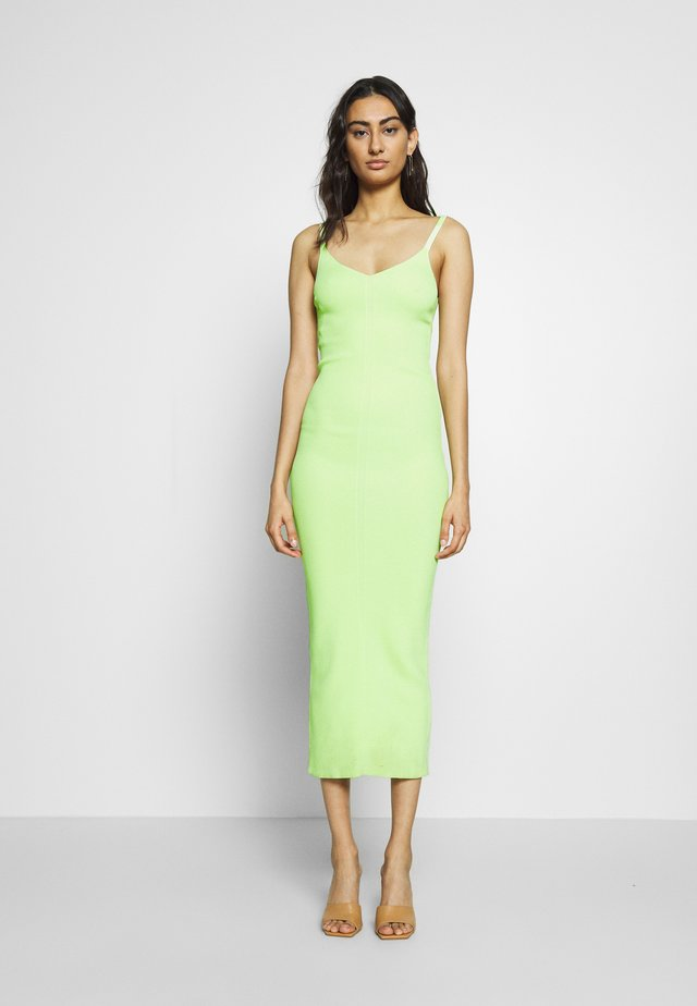 CITRUS CLUB KNIT MIDI DRESS - Kjole - key lime