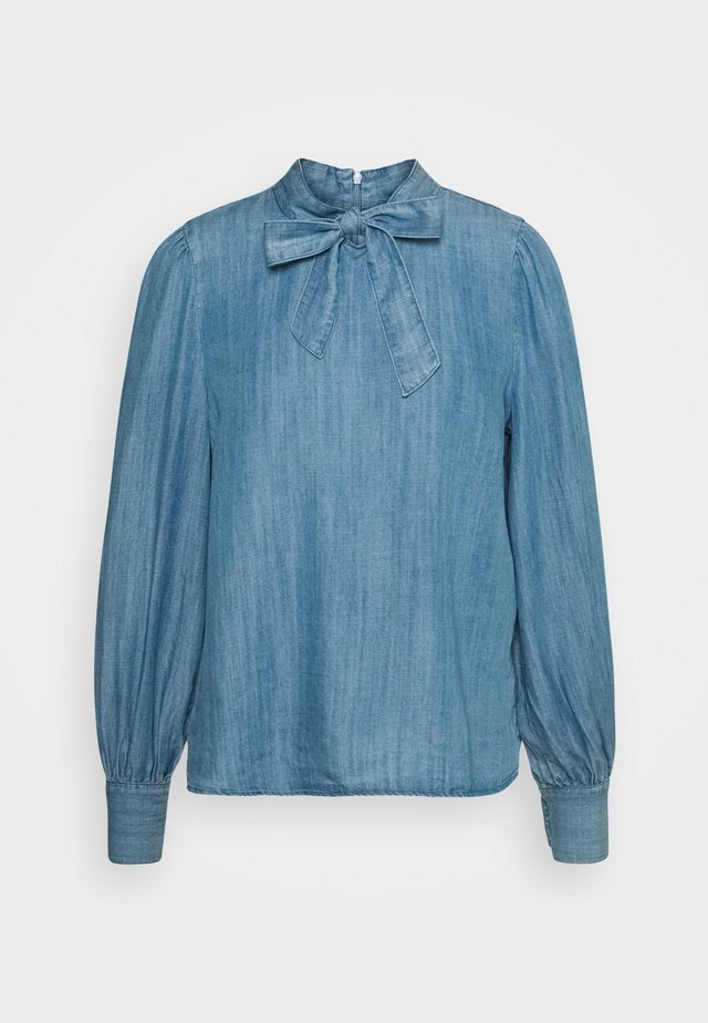 POESY - Blouse - light blue denim