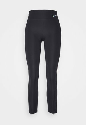 FASTER 7/8 - Legging - black/gunsmoke