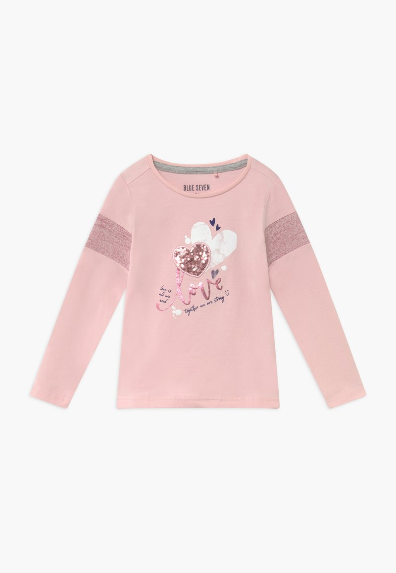 Blue Seven - KIDS SEQUIN LOVE HEART - Top s dlouhým rukávem - rosa