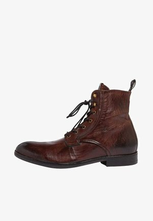 CHOCOLATE  - Lace-up ankle boots - bitter chocolate