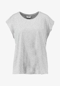 Noisy May - NMMATHILDE  - Basic T-shirt - light grey melange - 3