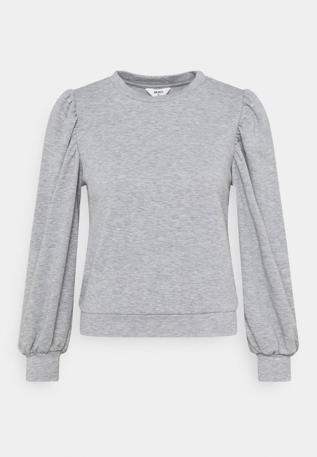 OBJMAJA - Sweatshirt - light grey melange