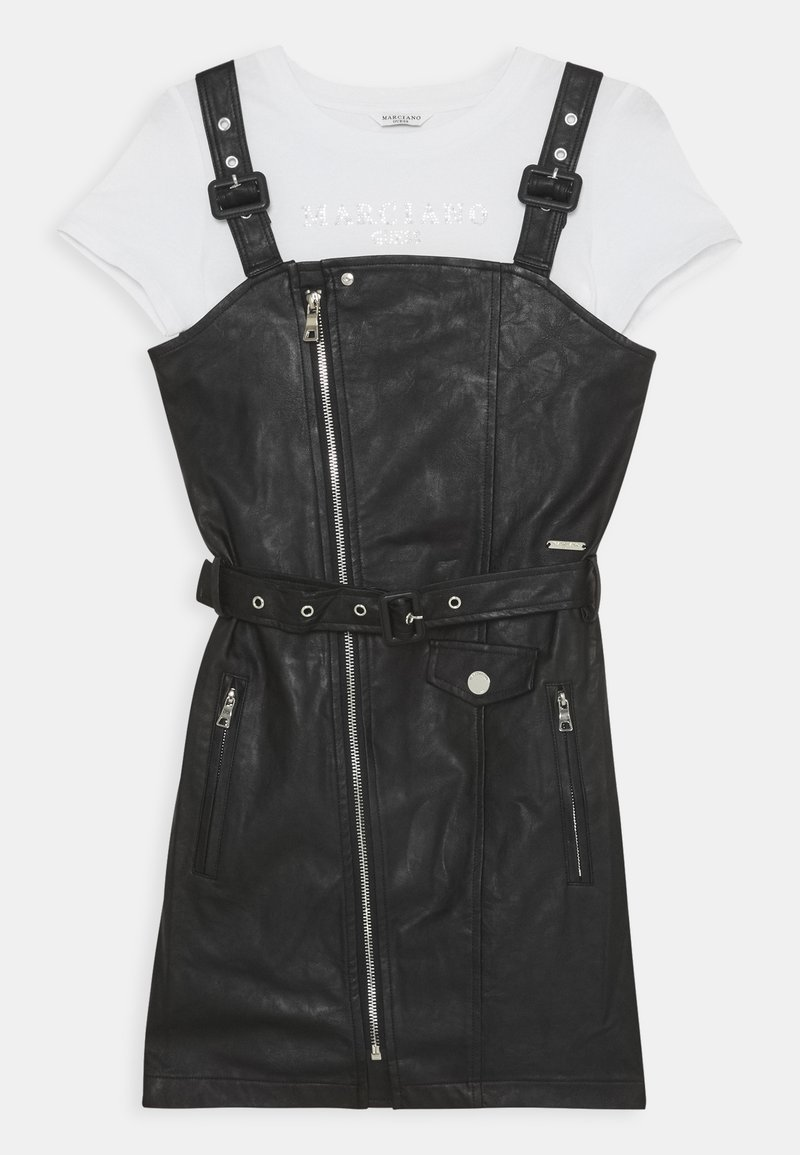 Guess - JUNIOR LEATHER DRESS MARCIANO - Day dress - true white