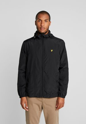 ZIP THROUGH HOODED JACKET - Summer jacket - jet black
