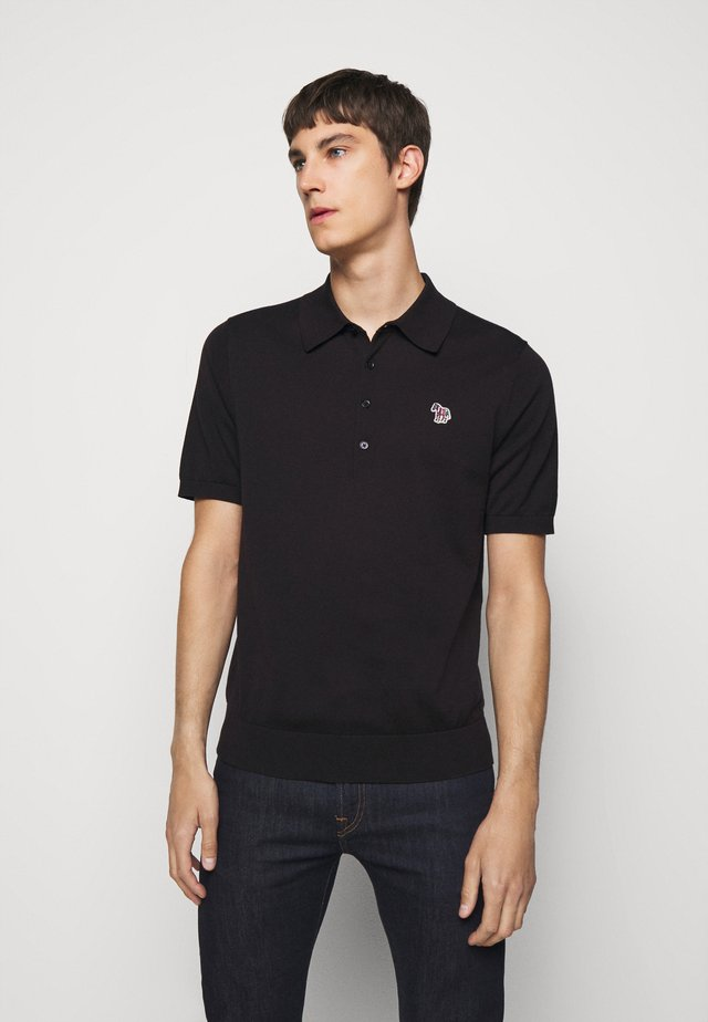 MENS ZEBRA - Polo shirt - black