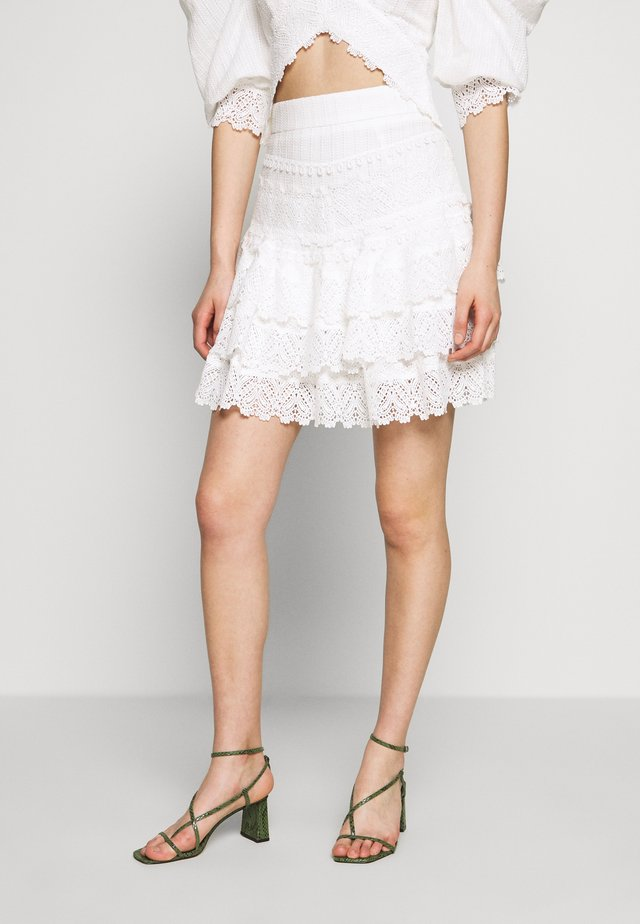 HAVANA NIGHTS SKIRT - A-linjainen hame - white