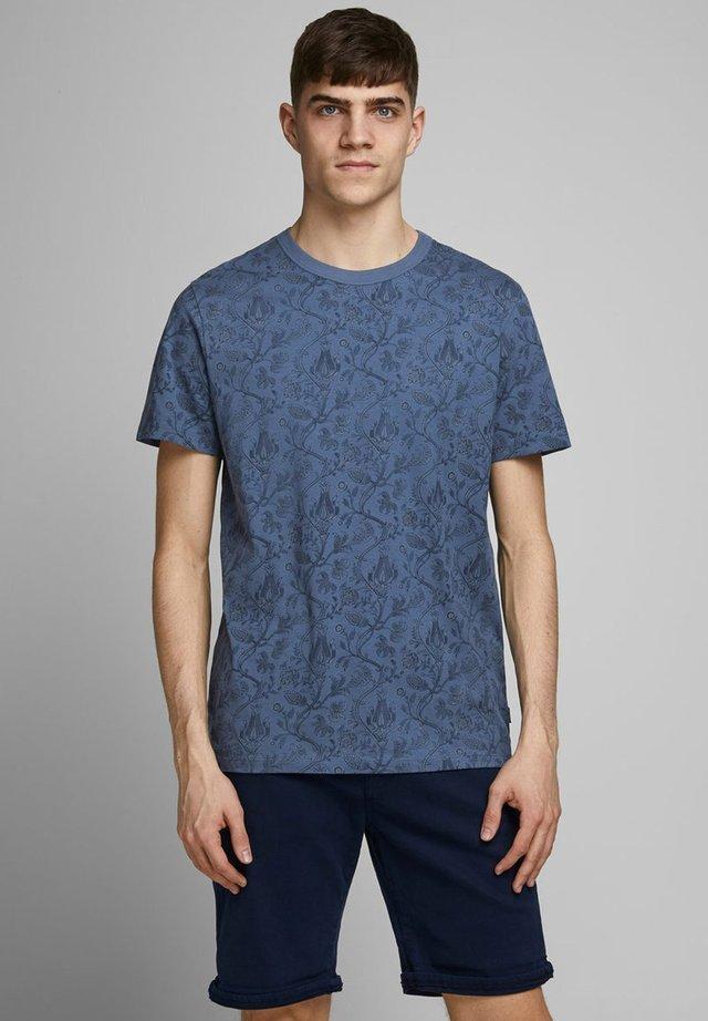 Print T-shirt - vintage indigo