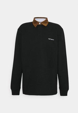 RUGBY - Pikeepaita - black/hamilton brown/white