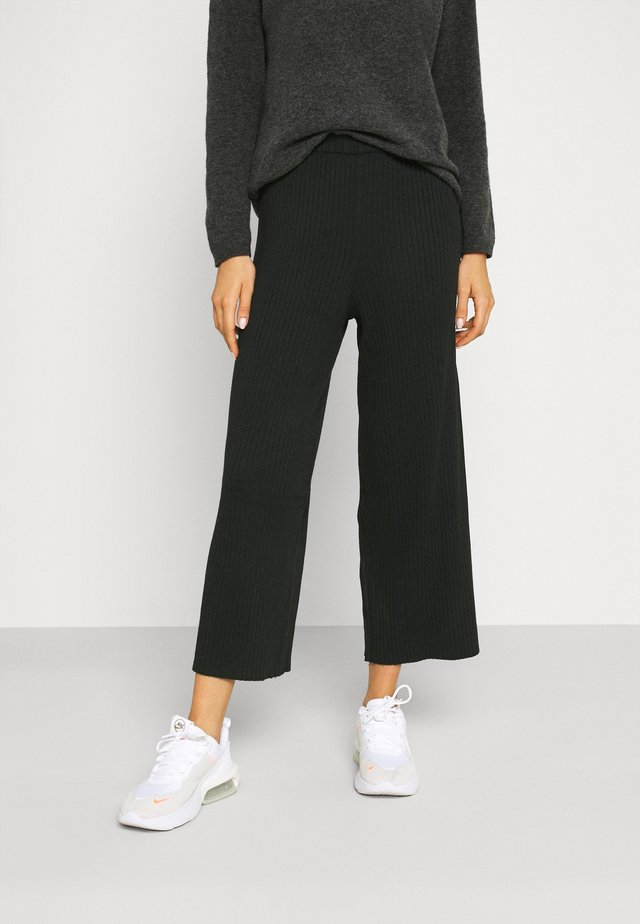 CALAH TROUSERS - Stoffhose - black