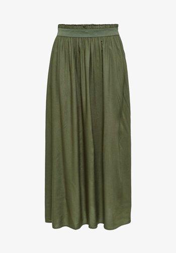 Plisovaná sukně - grape leaf