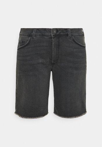 Denim shorts - dark stone black denim