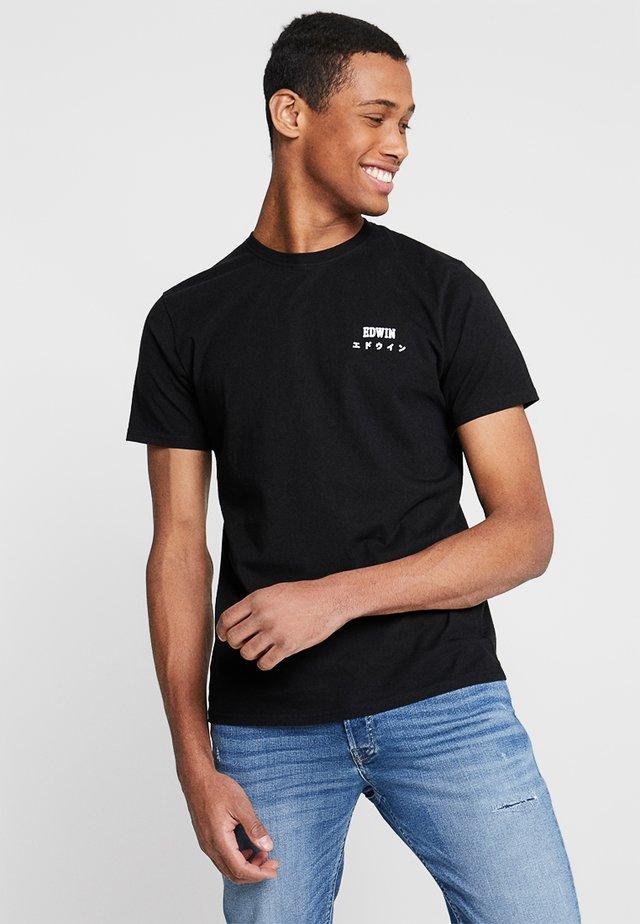 LOGO CHEST UNISEX - Jednoduché triko - black